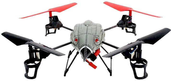 Drone quadcopter used for aerial fleet operations