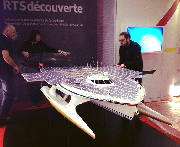 Large scale model of the PlanetSolar ZCC world record solar powered boat