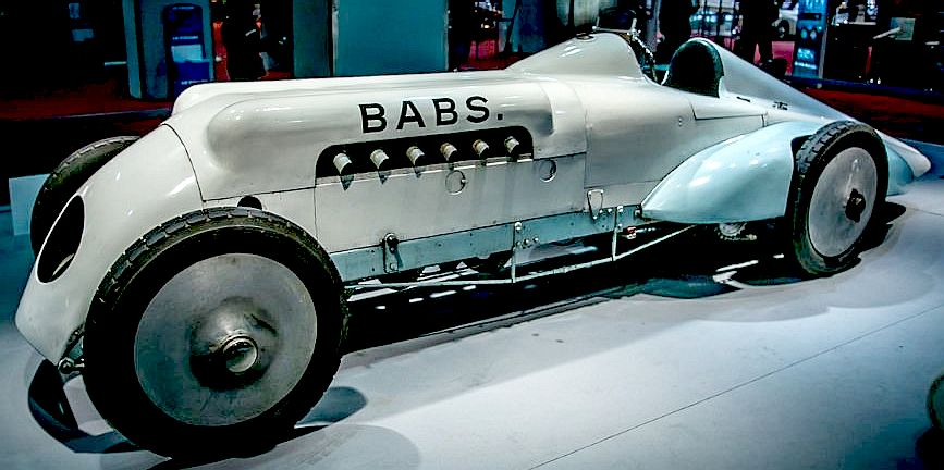 Parry Thomas' Babs fully restored and on display