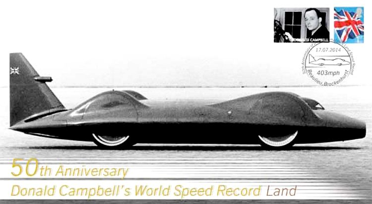 World land speed record 50th anniversary 403 mph, Donald Campbell's Bkuebird CN7