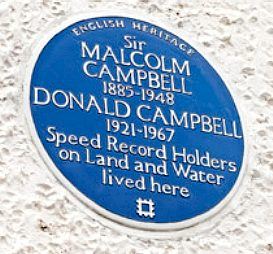 English Heritage site, blue plaque