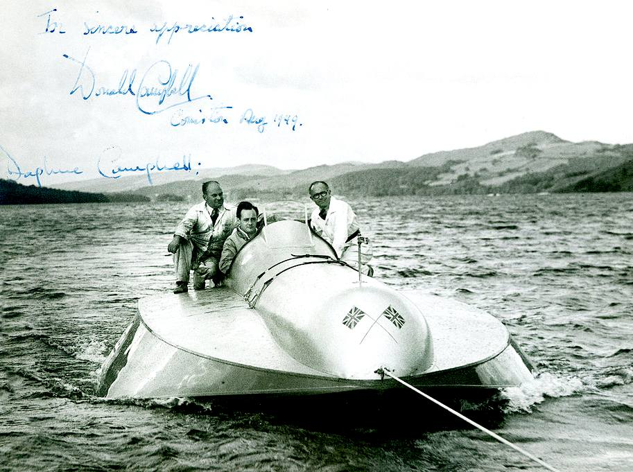 Bluebird K4 with Donald Campbell and Leo Villa