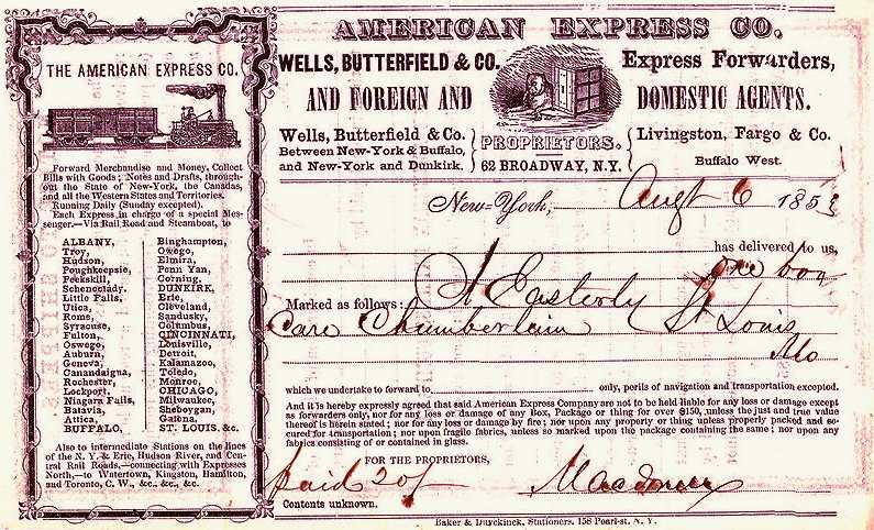 American Express travellers cheque