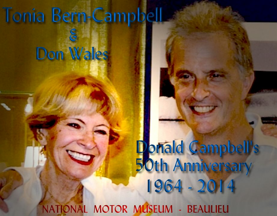 Tonia Bern-Campbell at the National Motor Museum in England, with Don Wales