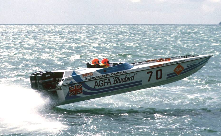 Agfa sponsored offshore powerboat: Bluebird AGFA