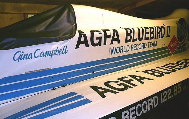 Agfa water speed record boat of Gina Campbell
