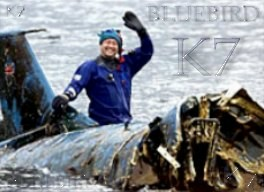 Bill Smith and Bluebird on the day the wreck was raised