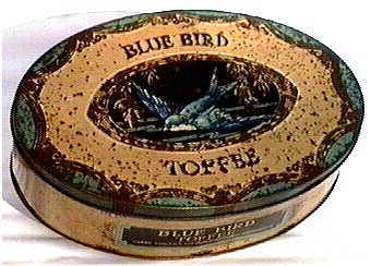 Blue Bird toffee tin