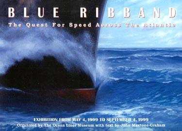 Blue Ribband poster, quest for speed across the Atlantic