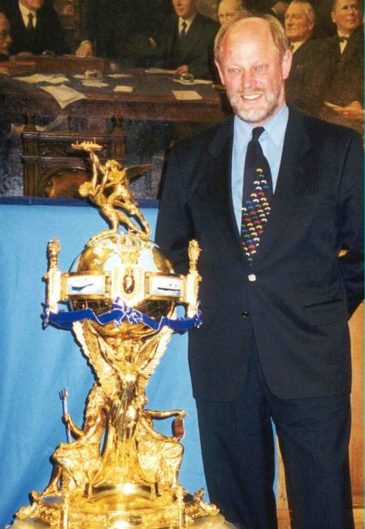 Incat chairman Robert Clifford in 1998 with the Hales Trophy