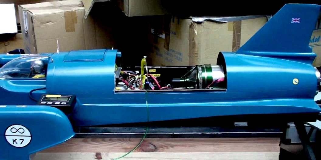large blue bird k7 replica for jet turbine conversion or