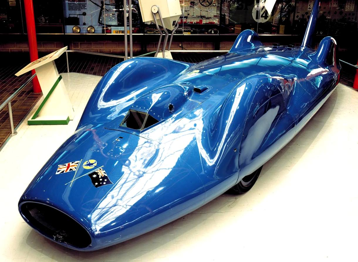BlueBird CN7 (Campbell Norris) at the National Motor Museum at Beaulieu