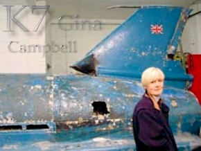 Gina Campbell and the Bluebird K7