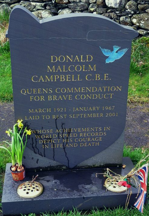 Donald Malcolm Campbell CBE, gravestone, died january 1967