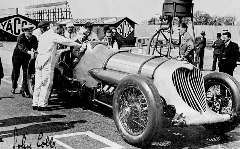 John Cobb in his Napier land speed record car