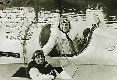 Leo Villa with Donald Campbell in the K4