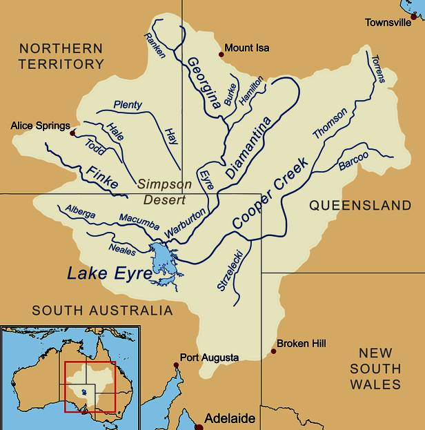 Image result for lake eyre map