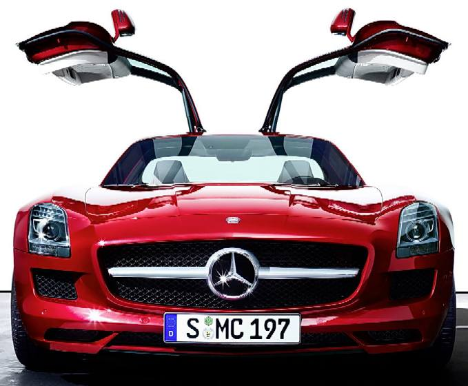 Eco star city sports car body work build your own for Mercedes benz with wing doors