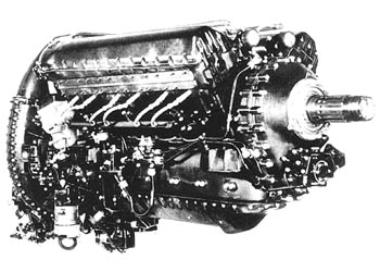 Rolls Royce Merlin engine as used in Spitfires and Hurricanes