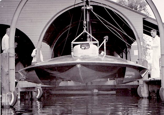 The Jensen motor boat company launching Slomoshun