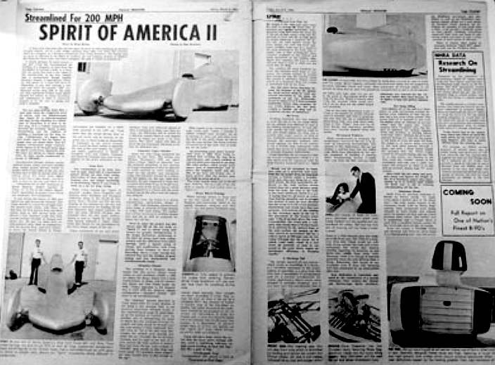 Spirit of America II newspaper article