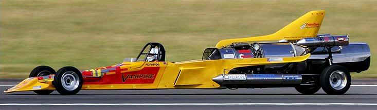 vampire jet powered dragster