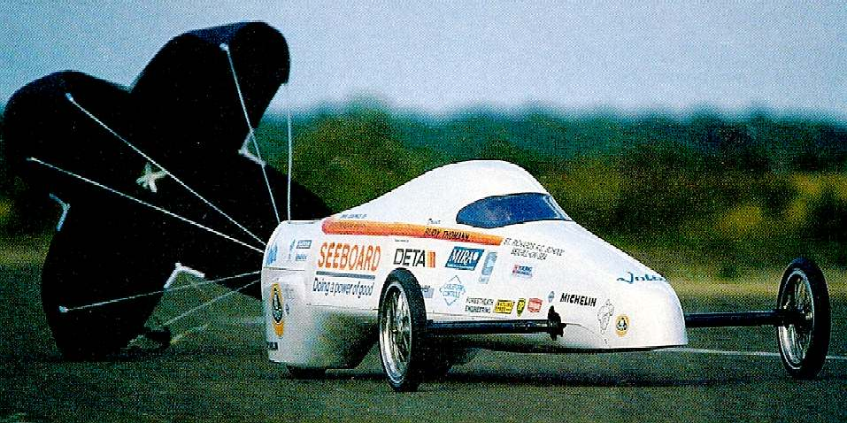 Volta land speed record car UK electric record 106 miles per hour