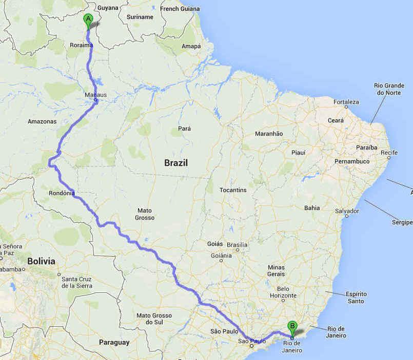 TRANS BRAZILIA BOA VISTA RIO DE JANEIRO OFFICIAL CANNONBALL ZEV