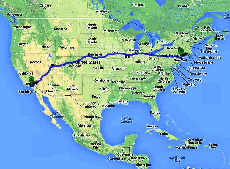 USA LOS ANGELES TO NEW YORK ELECTRIC VEHICLE ENDURANCE CHALLENGES