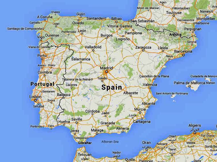 Map Of Spain Google Maps.Spain Google Maps Imsa Kolese