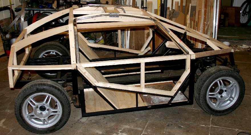 Steel Framed Cars : Eco car gull wing doors timber steel framed diy electric