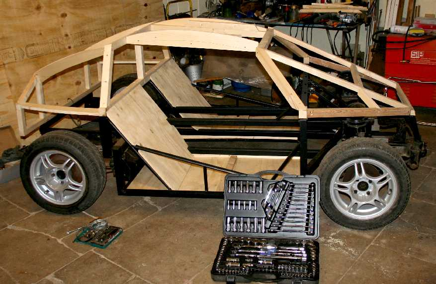 city sports car coach work build a timber framed wooden diy electric dune buggy. Black Bedroom Furniture Sets. Home Design Ideas