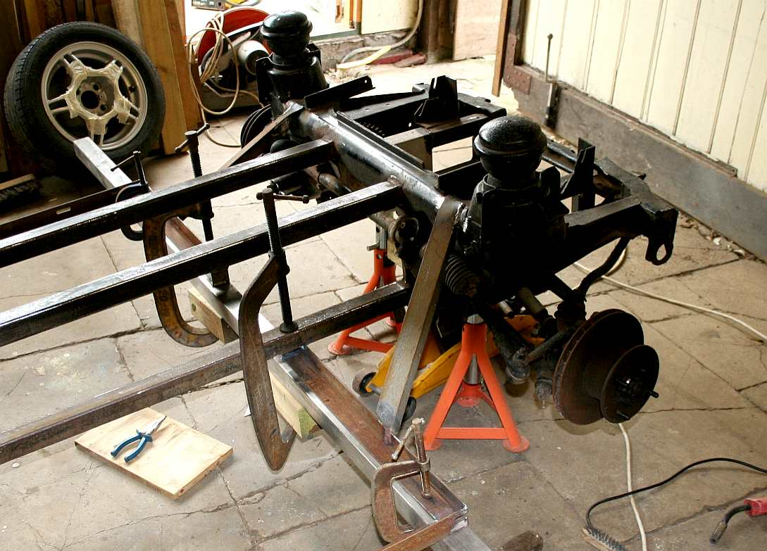 ECOSTAR CITY SPORTS CAR CHASSIS WELDING BUILD YOUR OWN DIY STEEL FRAME