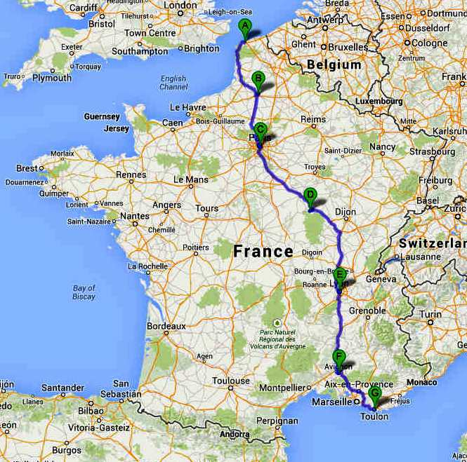 FRENCH CONNECTION CALAIS TO TOULON OFFICIAL CANNONBALL ZEV – Road Map Wikipedia
