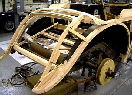 City Sports Car Coach Work Build A Timber Framed Wooden