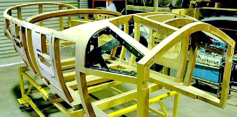CITY SPORTS CAR COACH WORK BUILD A TIMBER FRAMED WOODEN DIY ELECTRIC ...