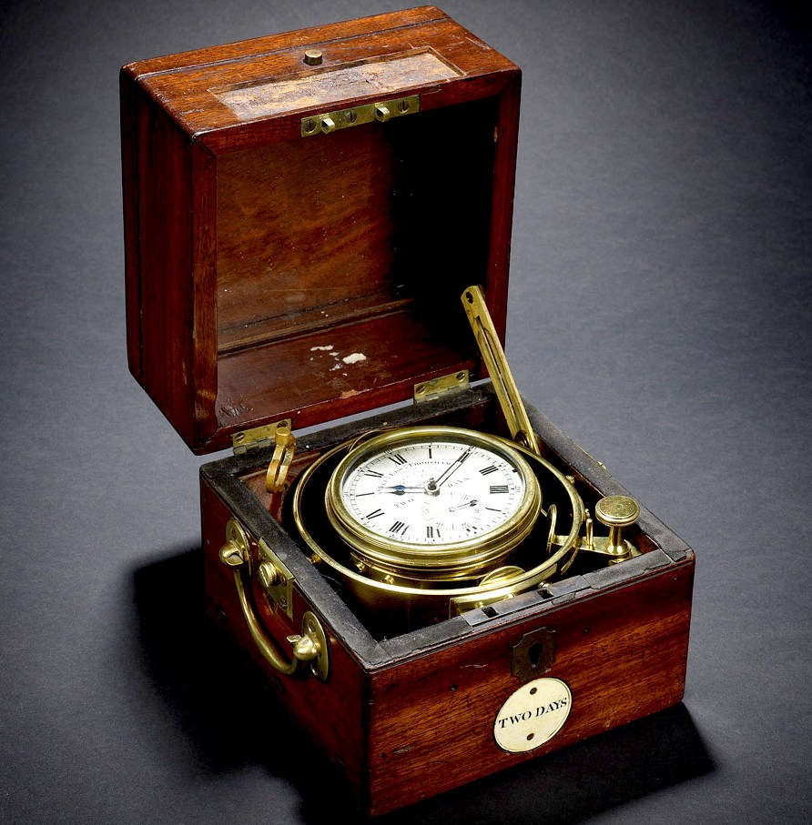 Marine chronometer from HMS Beagle and Charles Darwin