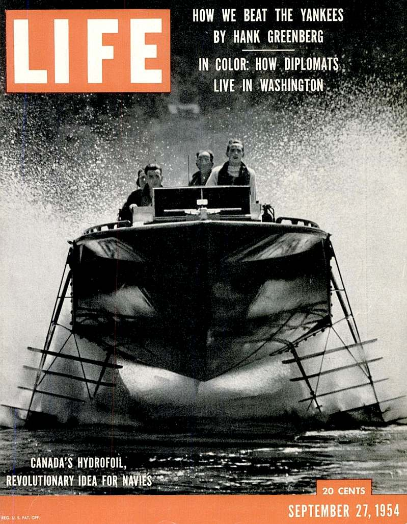 Life magazine cover September 1954, Canadian Navy Hydroplane