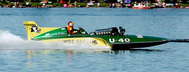 MISS BARDAHL RACING HYDROPLANE