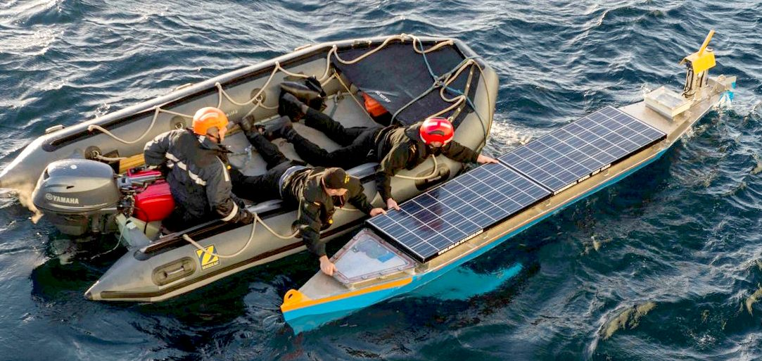 Seacharger Solar Powered Autonomous Robotic Boats Unmanned