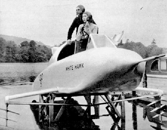 Frank and Stella Hanning-Lee and the K5 jet hydrofoil