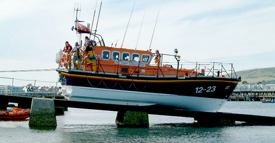 Swanage lifeboat and rescue crew