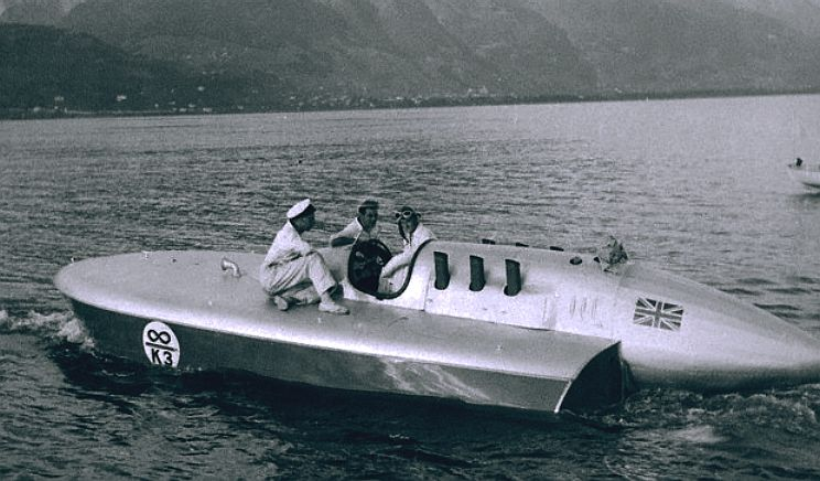 Sir Malcolm Campbell and the K3 water speed record boat