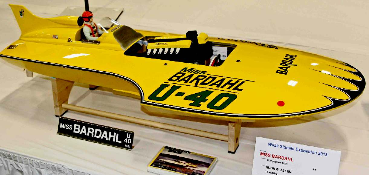 MISS BARDAHL RACING HYDROPLANE