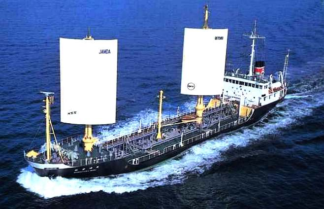 JAMDA - A computer controlled, sail assisted merchant ship.