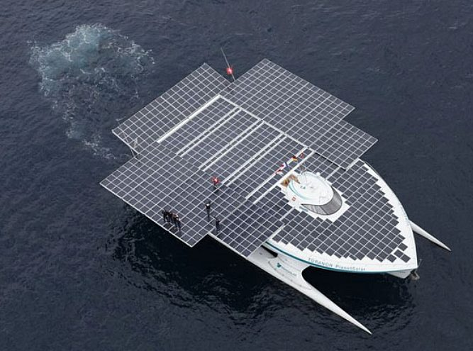 Turanor Planet Solar, world's biggest solar powered catamaran