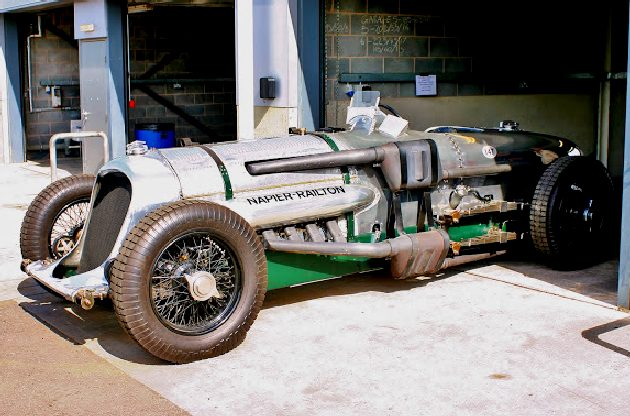 John Cobb's Napier Railton at Donington Park