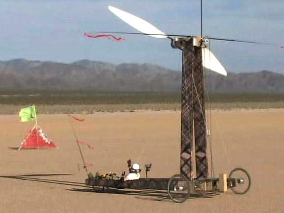 Wind powered land speed record
