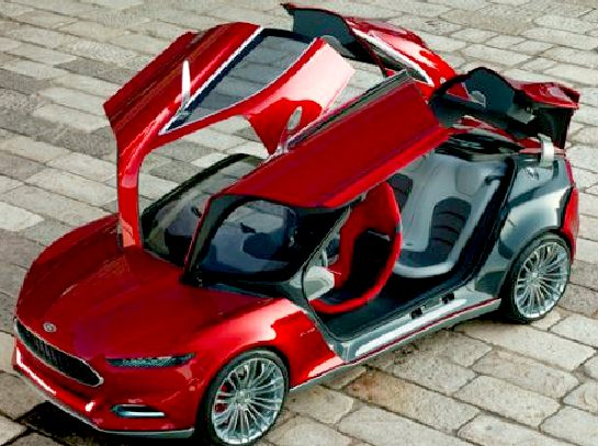 Ford Evos Erfly Doors The Is An Impressive Looking Show Car But We Wonder If Flamboyant Openings Might Be Practical In Everyday Use