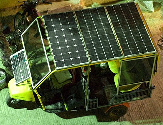 Solar assisted tuk, tuk